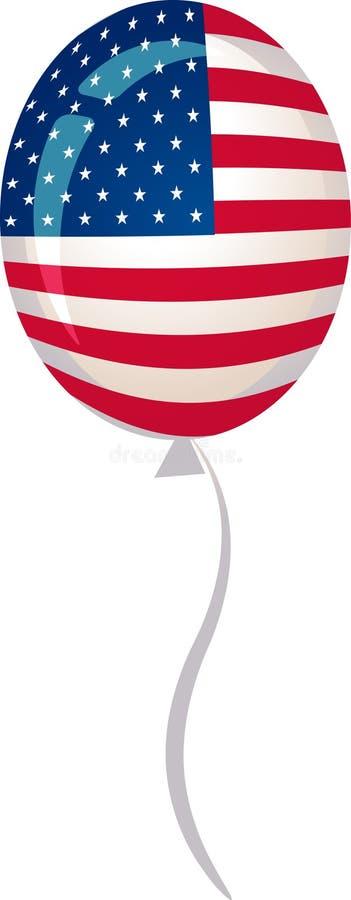 Estrelas e balão das listras ilustração royalty free