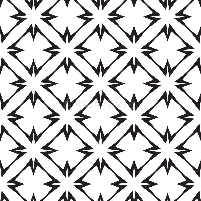 Estrelas e cruzes, teste padrão sem emenda do vetor geométrico abstrato. ilustração royalty free