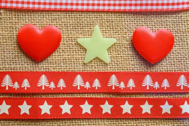 Estrelas e fita dos corações fotos de stock