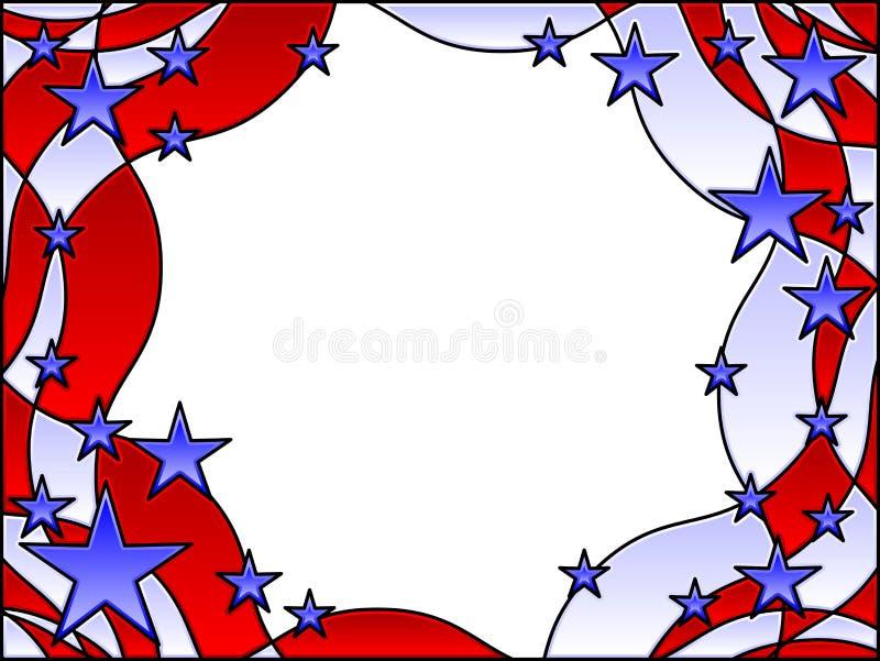 Estrelas e frame das listras ilustração stock