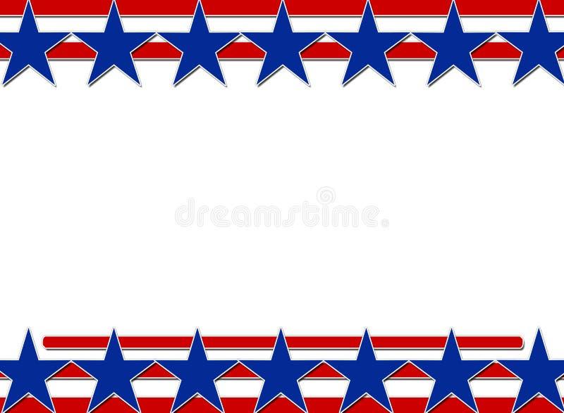 Estrelas e fundo das listras ilustração stock