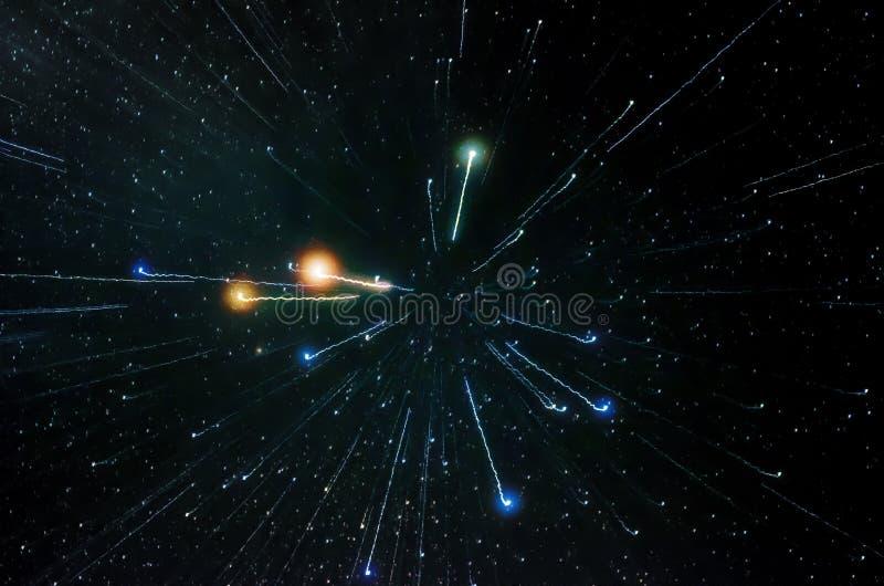 Estrelas e fundo do universo da noite do céu do espaço da galáxia fotos de stock royalty free