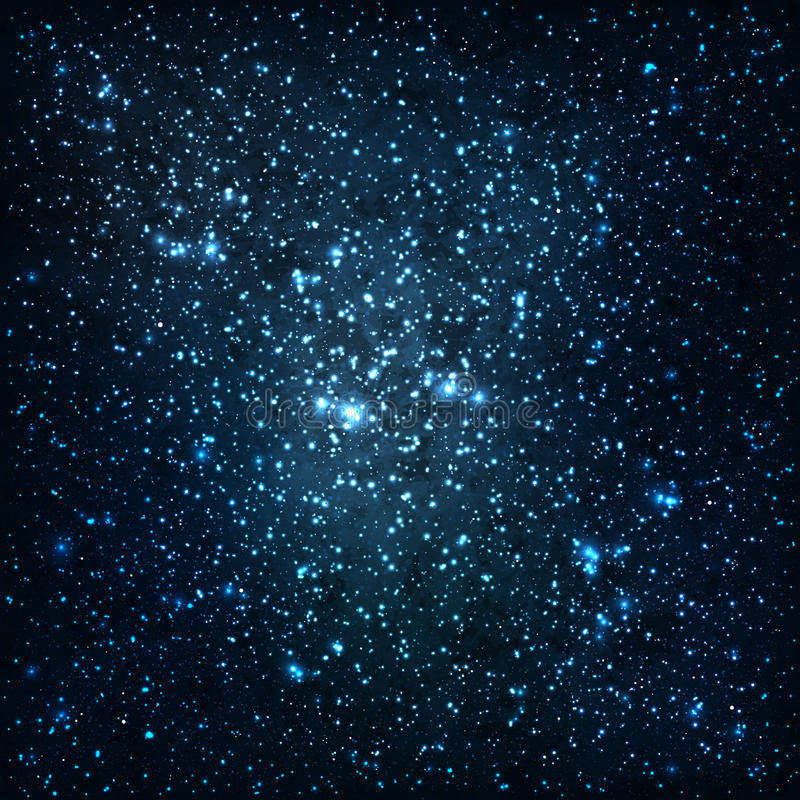 Estrelas e galáxias ilustração stock