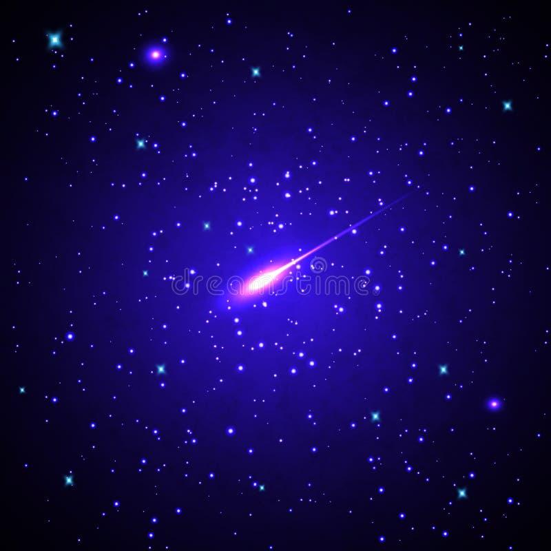 Estrelas e galáxias ilustração royalty free