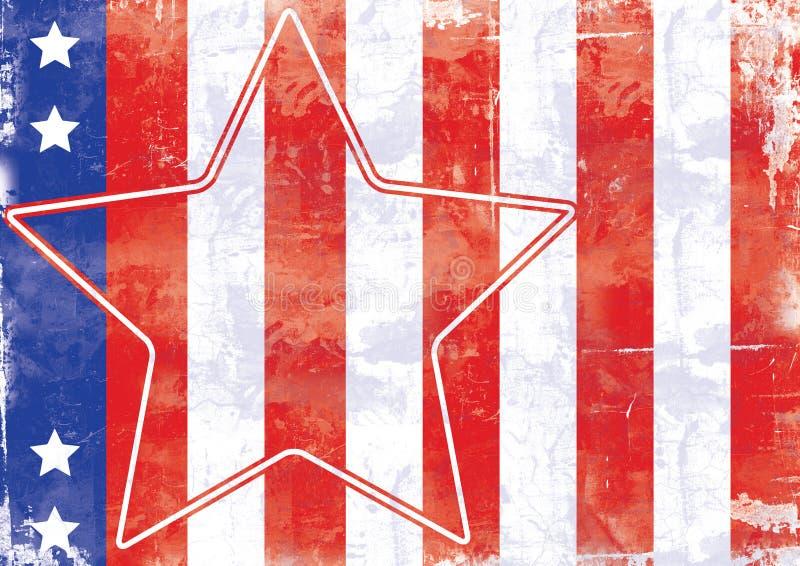 Estrelas e listras ilustração stock