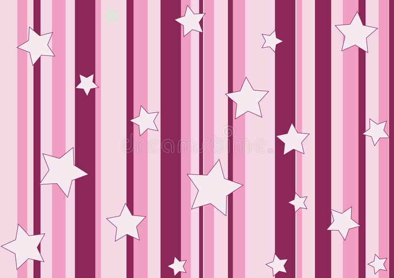 Estrelas e listras cor-de-rosa ilustração royalty free