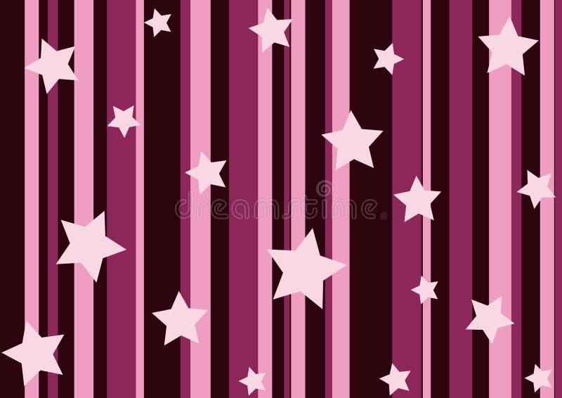Estrelas e listras cor-de-rosa imagens de stock royalty free