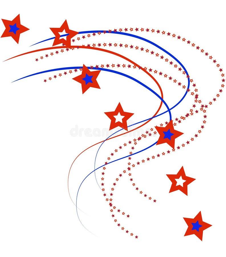 Estrelas e listras patrióticas ilustração do vetor