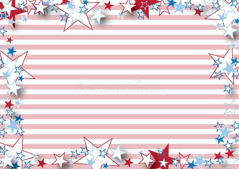 Estrelas e listras pequenas ilustração do vetor