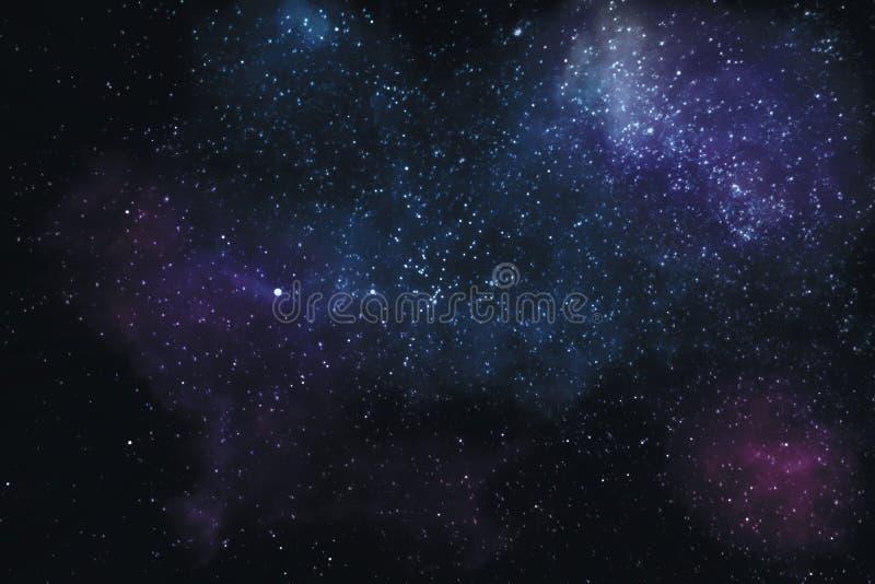 Estrelas e nebulosa no universo foto de stock