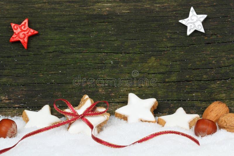 Estrelas e porcas da canela fotografia de stock