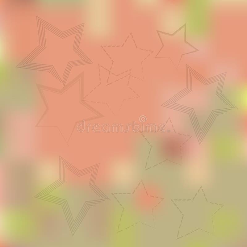 Estrelas em um fundo bege borrado imagens de stock royalty free