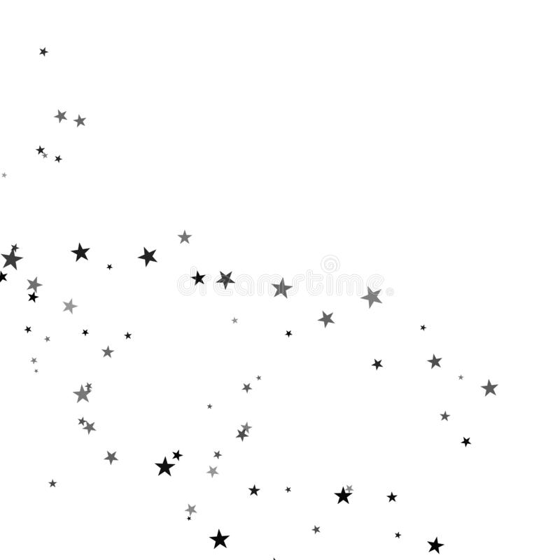 Estrelas em um fundo branco ilustração stock