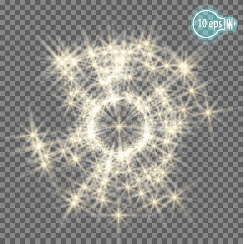 Estrelas em um fundo transparente em eps10 ilustração stock