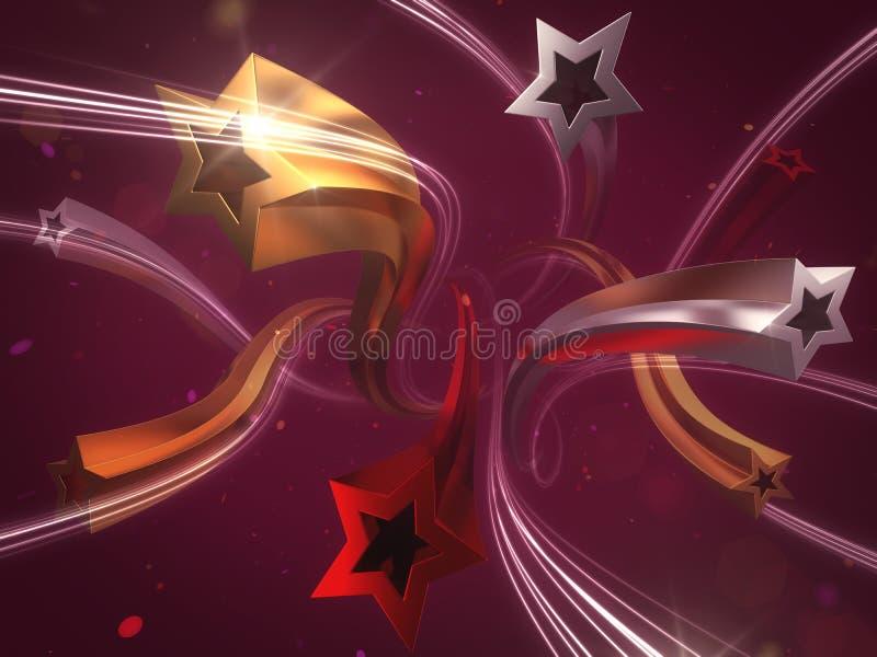 Estrelas festivas ilustração royalty free