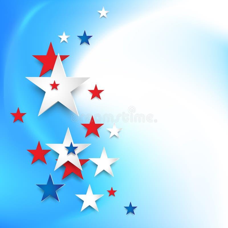 Estrelas festivas da cor ilustração do vetor