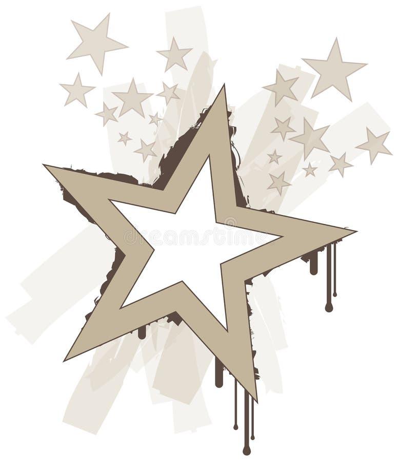 Estrelas frescas do vetor do grunge ilustração royalty free
