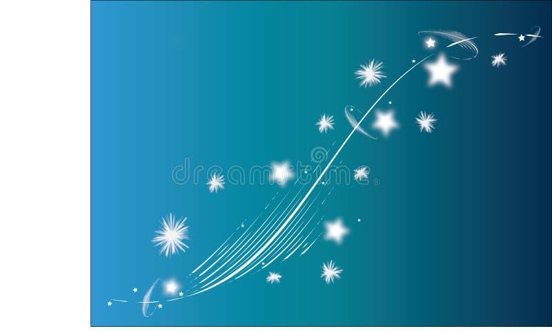 Estrelas nevado ilustração stock