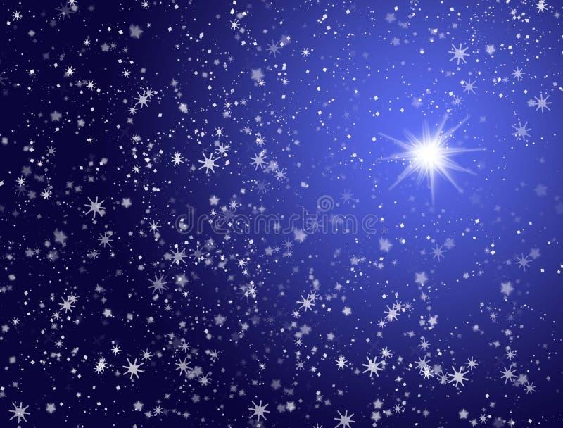 Estrelas no céu ilustração stock