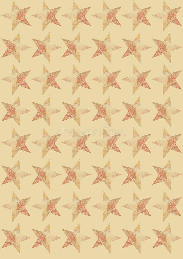 Estrelas no fundo bege ilustração do vetor