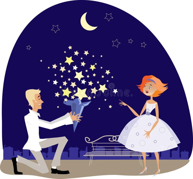 Estrelas para o querido ilustração stock