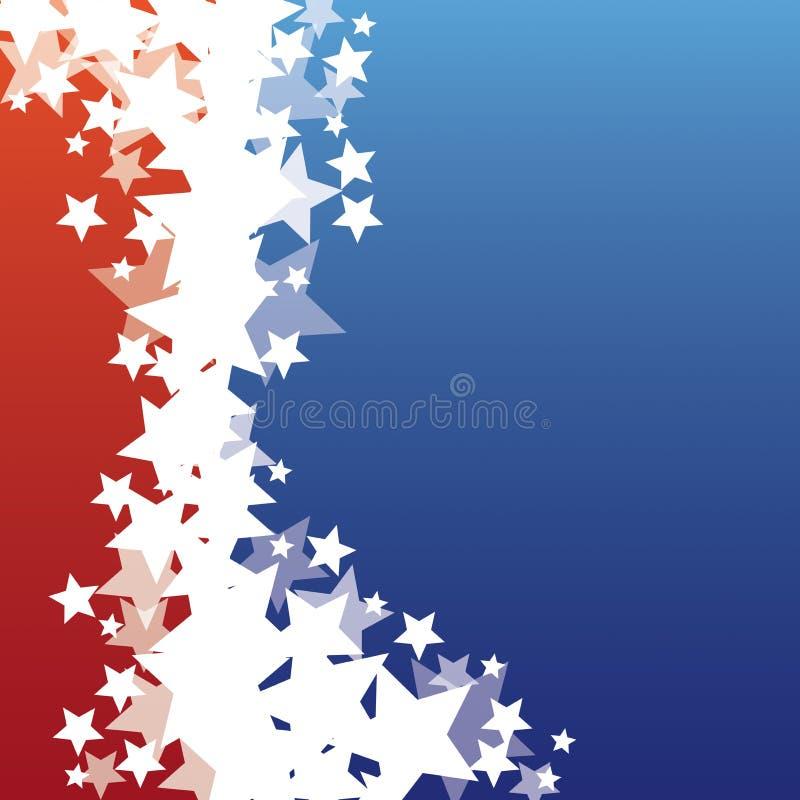 Estrelas patrióticas ilustração stock