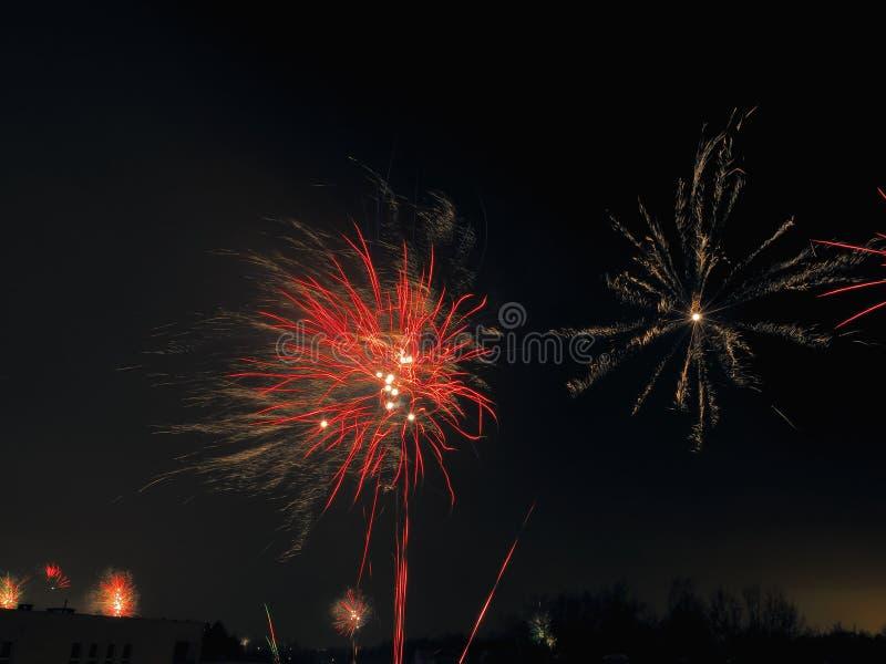 Estrelas pelo ano novo imagens de stock royalty free
