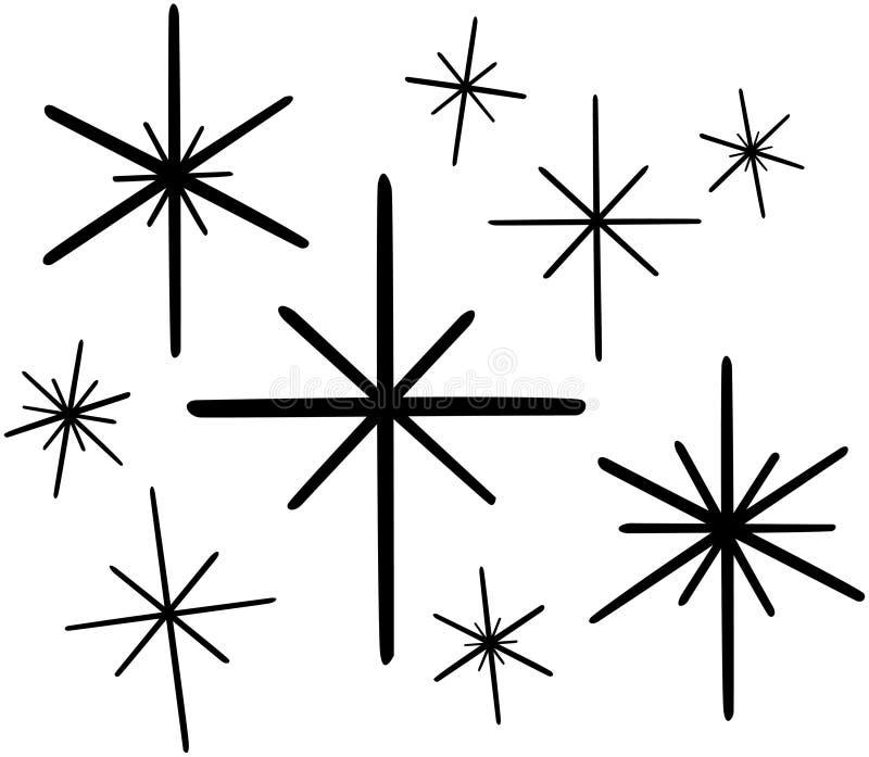 Estrelas retros 1 ilustração do vetor