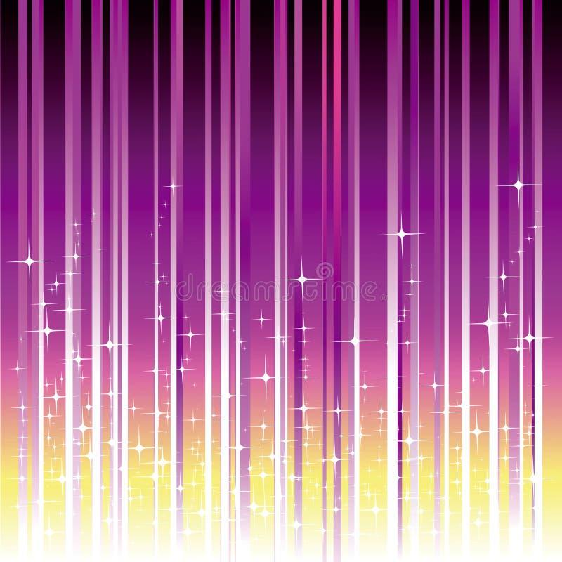Estrelas Sparkling com a listra magenta roxa ilustração royalty free