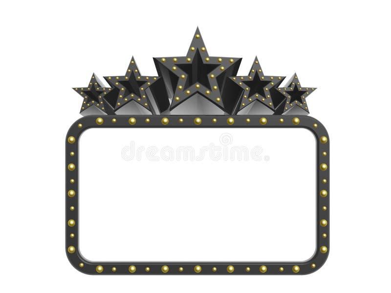 Estrelas super da rocha escura ilustração royalty free