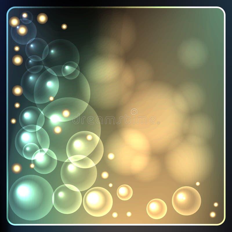 Estrelas translúcidas de incandescência ilustração do vetor