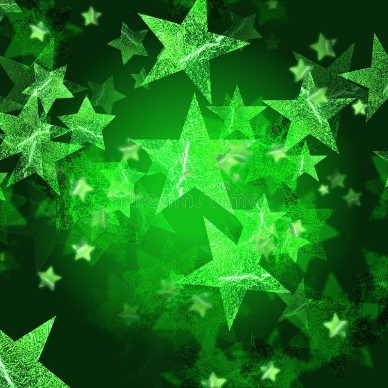 Estrelas verdes ilustração do vetor