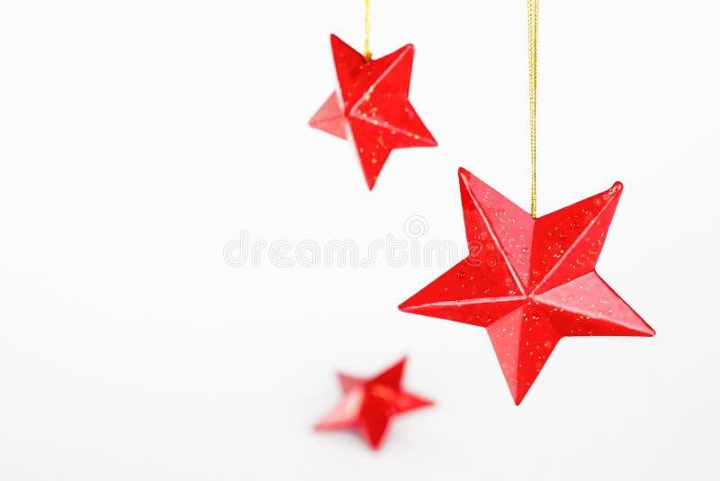 Estrelas vermelhas do Natal imagem de stock
