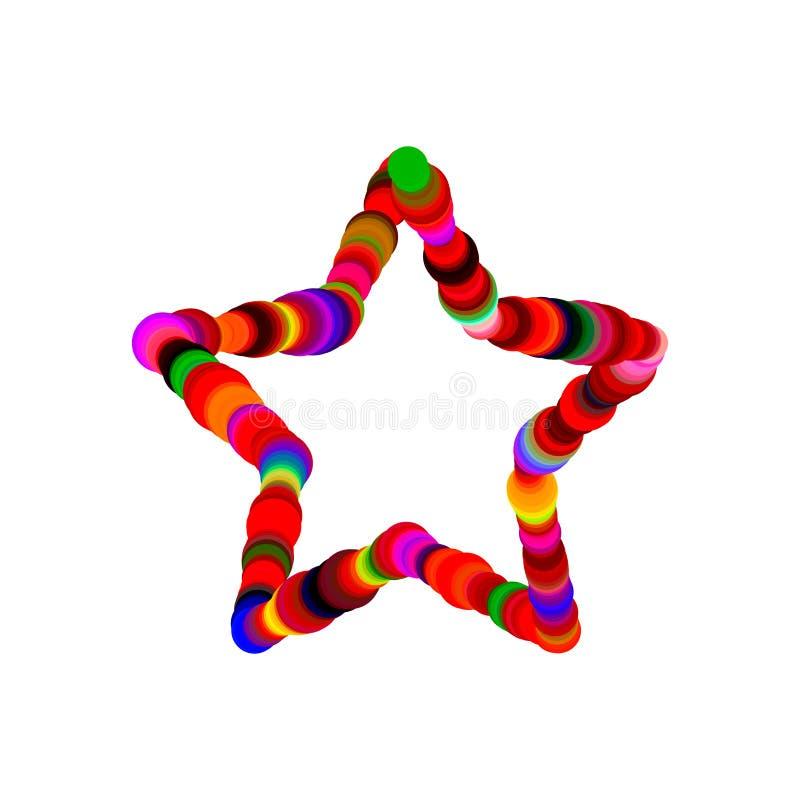 Estrella abstracta de círculos Aislado en el fondo blanco Vector c libre illustration