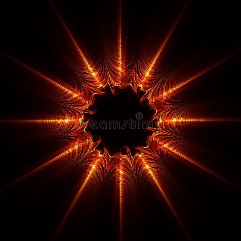 Estrella abstracta de la llama fotografía de archivo