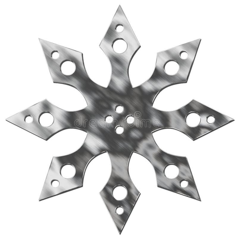 Estrella aislada del metal ilustración del vector
