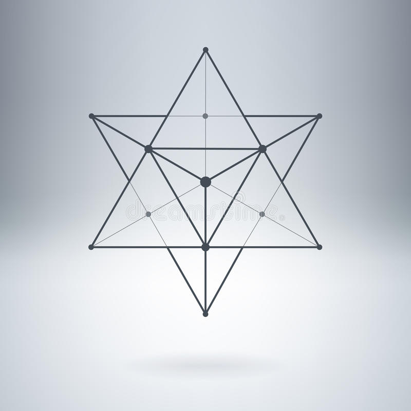 Estrella altísima con las líneas y los puntos conectados Vector abstracto Illu libre illustration