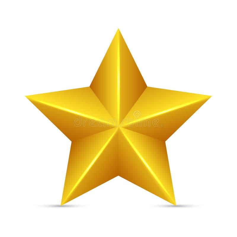 Estrella amarilla brillante stock de ilustración