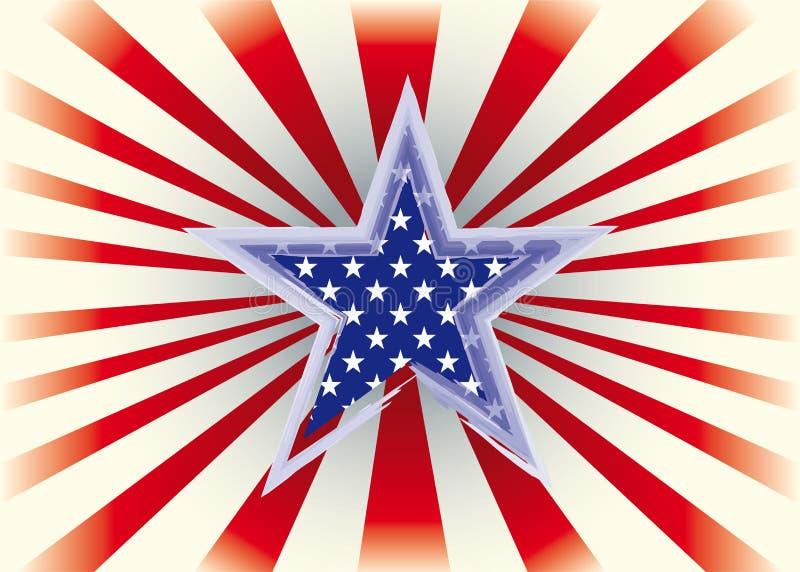 Estrella americana stock de ilustración