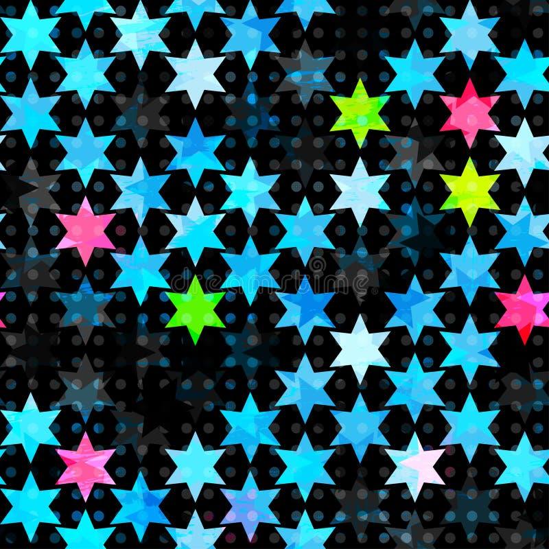 Estrella azul abstracta del grunge inconsútil libre illustration