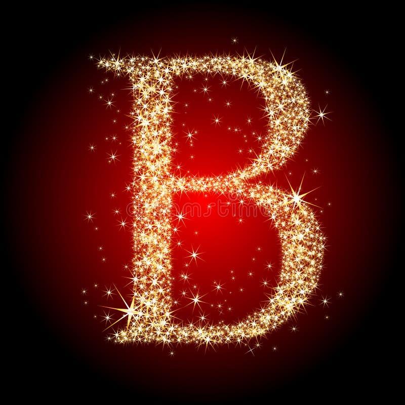 Estrella B de la carta ilustración del vector