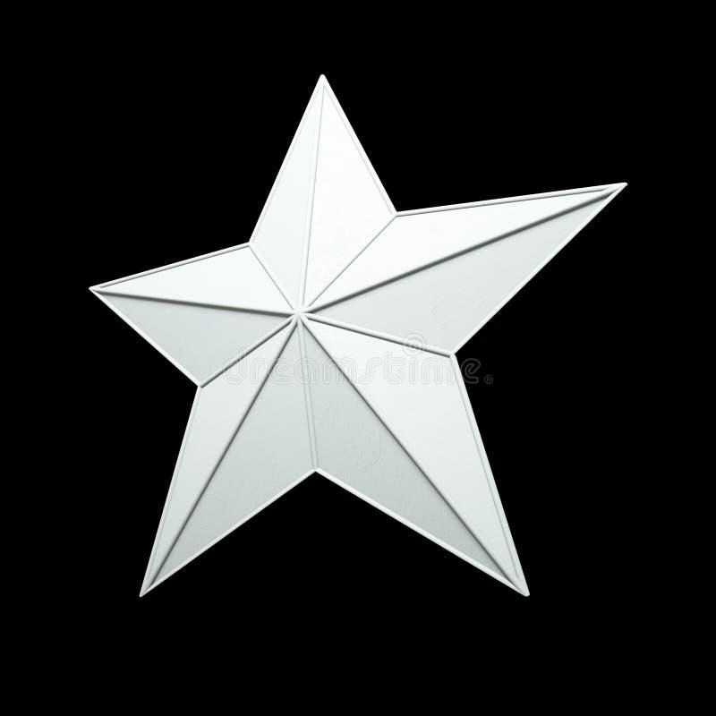 Estrella blanca - 3d rinden el aislamiento libre illustration