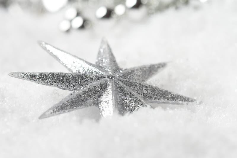 Estrella brillante de la Navidad foto de archivo