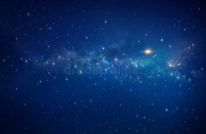 Estrella brillante en la galaxia ilustración del vector