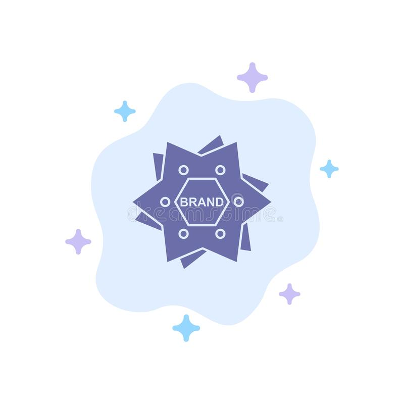 Estrella, calificando, marca, logotipo, icono azul de la forma en fondo abstracto de la nube libre illustration