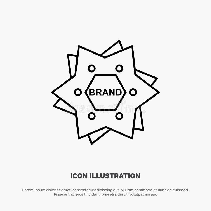 Estrella, calificando, marca, logotipo, línea vector de la forma del icono libre illustration