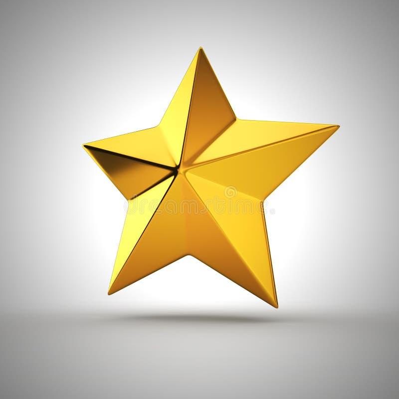 estrella Cinco-acentuada ilustración del vector