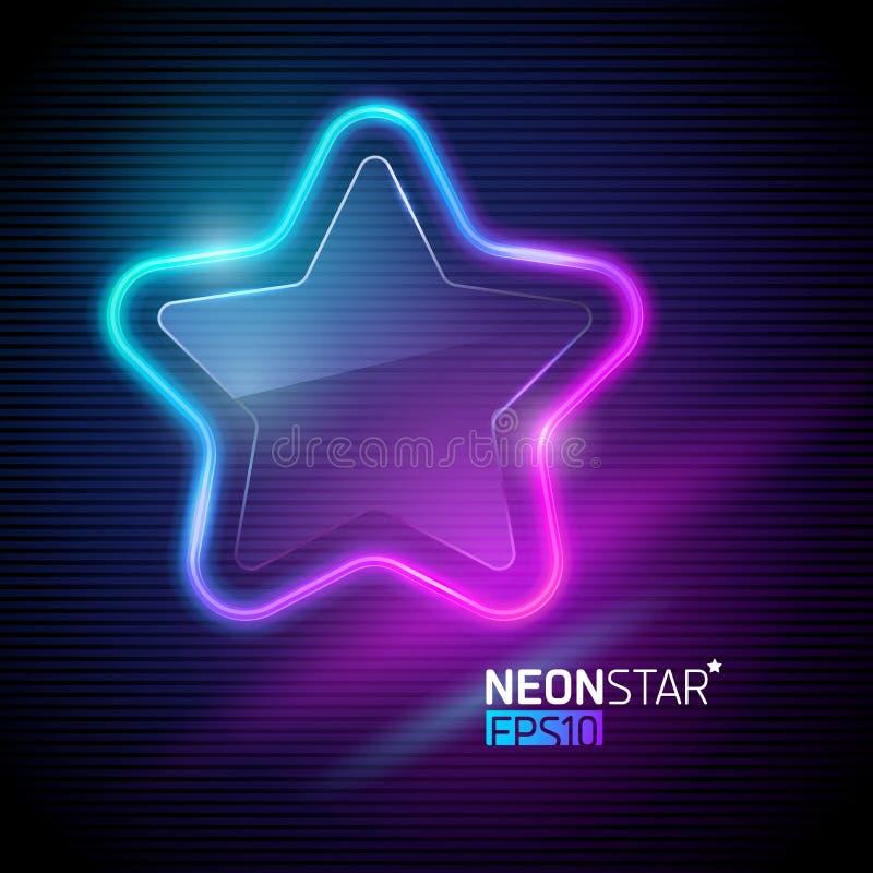 Estrella colorida de neón ilustración del vector