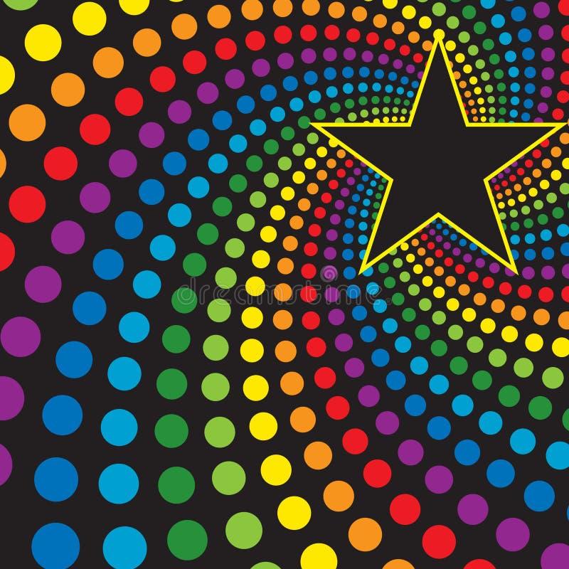 Estrella con remolino del arco iris libre illustration