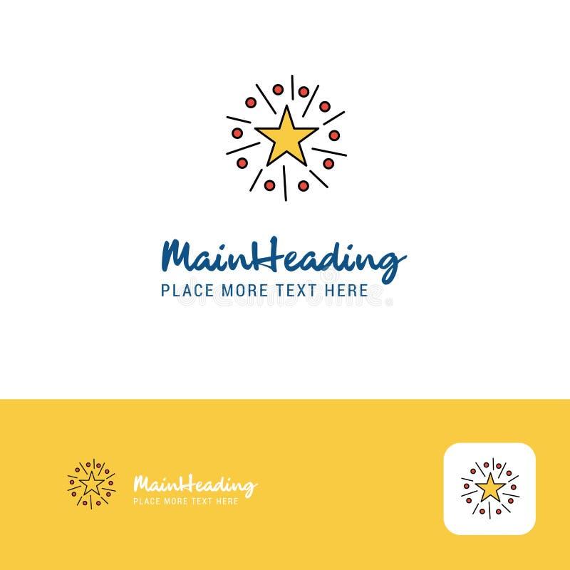 Estrella creativa Logo Design Lugar plano del logotipo del color para el Tagline Ilustración del vector stock de ilustración